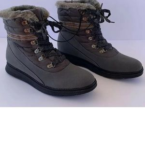 Shoes - Womens Comfort Hiking Boots Gray Size 10